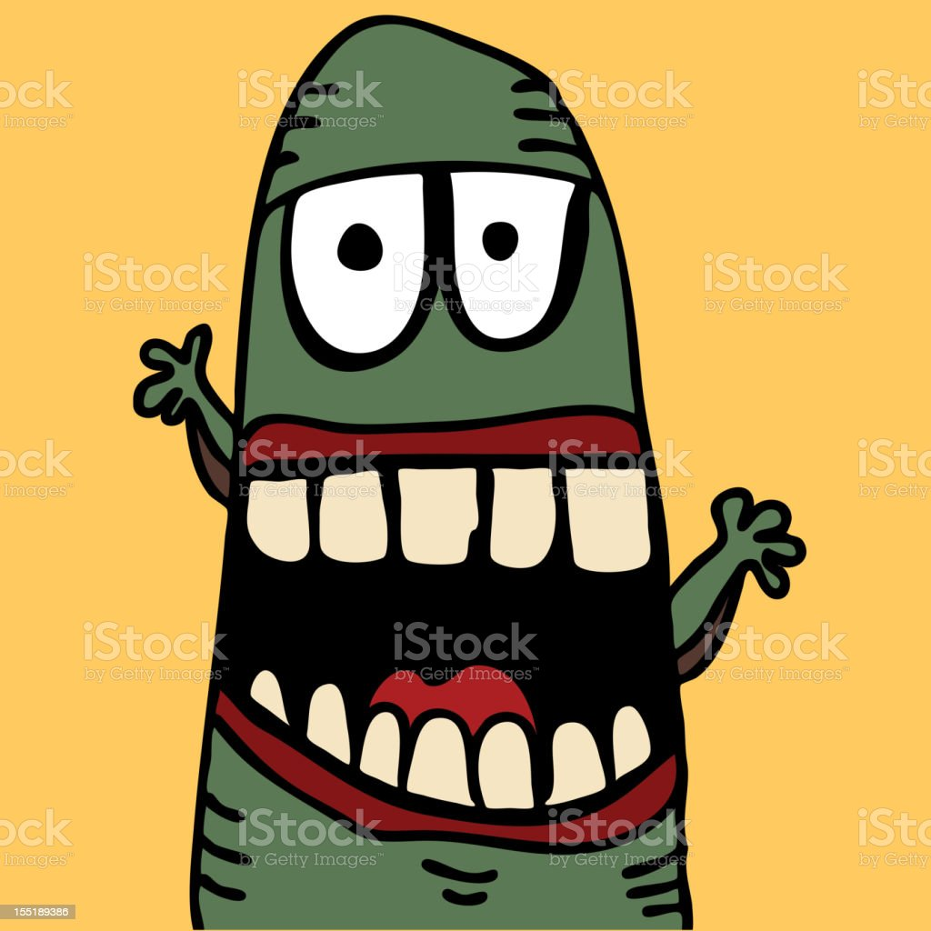 Cute monster royalty-free stock vector art