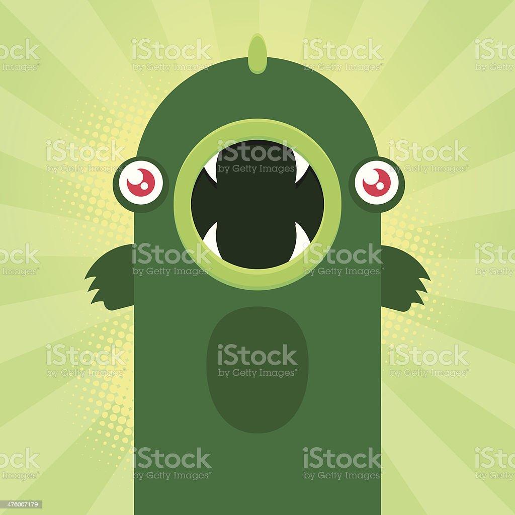 Cute monster vector art illustration