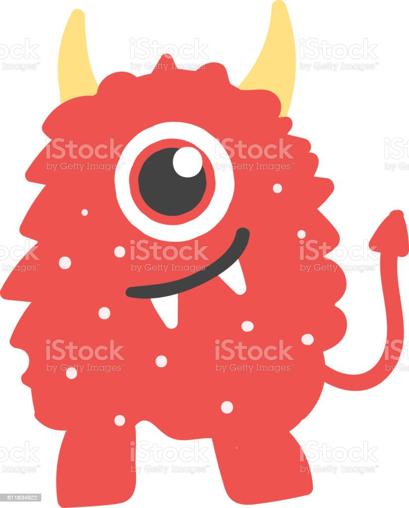 Cute monsters vector character. vector art illustration