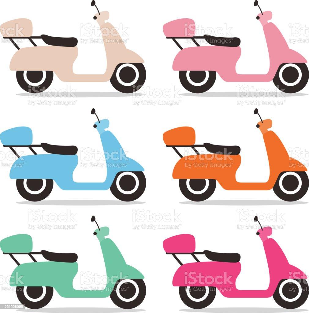 cute motorcycle flat design stock photo