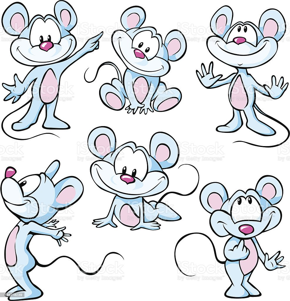 cute mouses royalty-free stock vector art