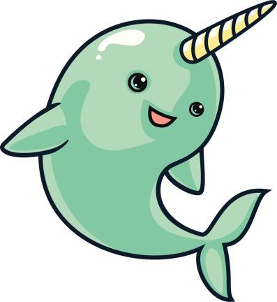 Narwhal Clip Art, Vector Images & Illustrations - iStock