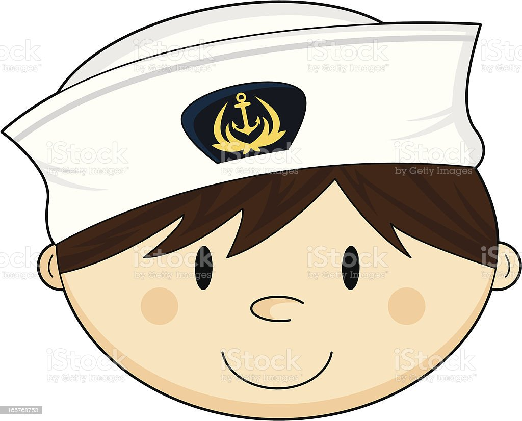 Sailor stock photos illustrations and vector art - Cute Navy Sailor In Cap Royalty Free Stock Vector Art