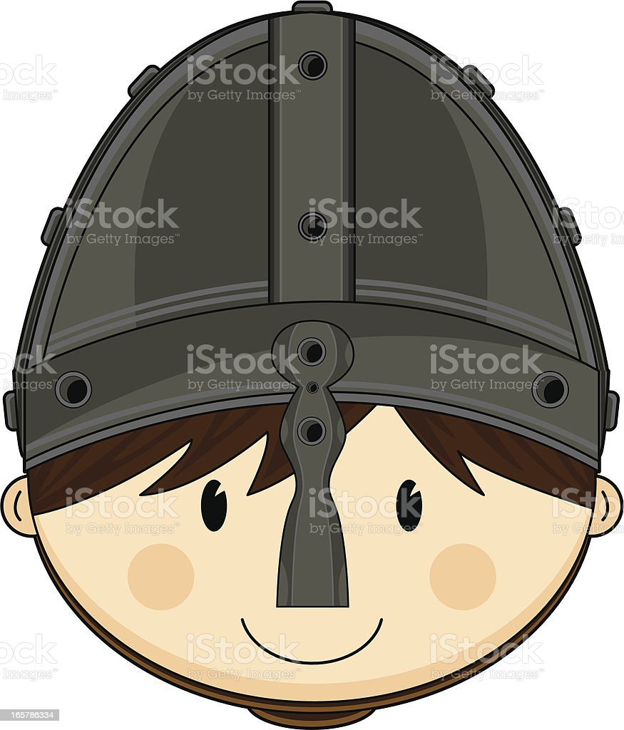 Cute Norman Age Soldier vector art illustration