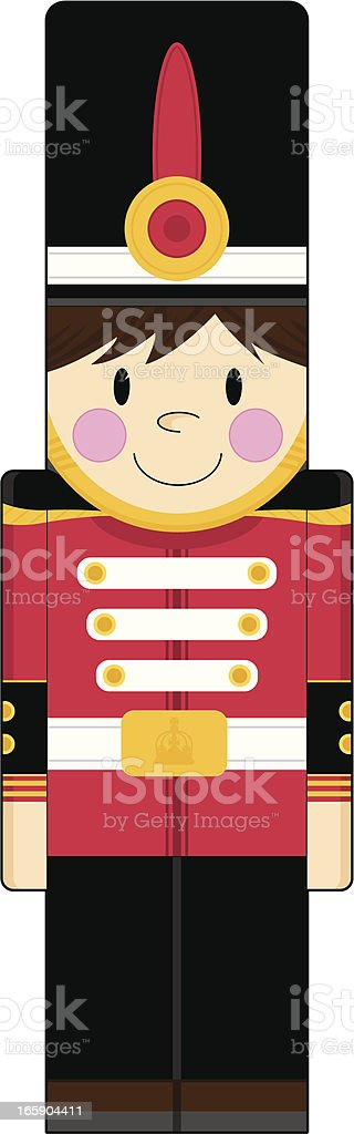 Cute Nutcracker Toy Soldier royalty-free stock vector art