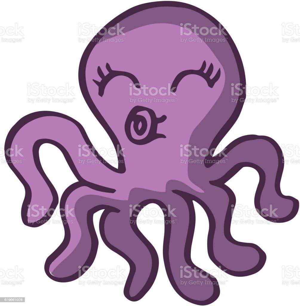 Shirt design octopus - Cute Octopus For Kids T Shirt Design Royalty Free Stock Vector Art