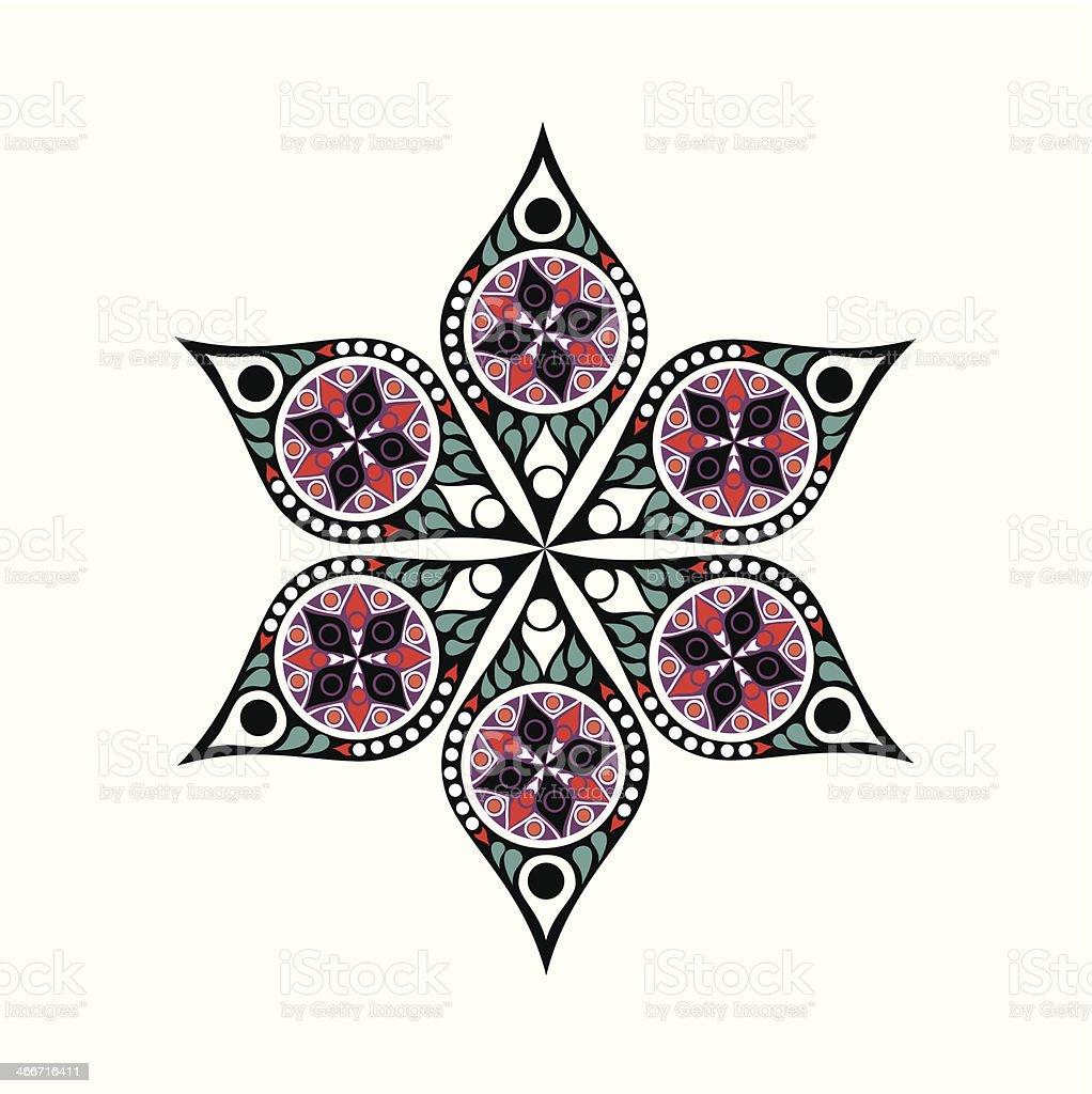 Cute ornamental flower vector art illustration