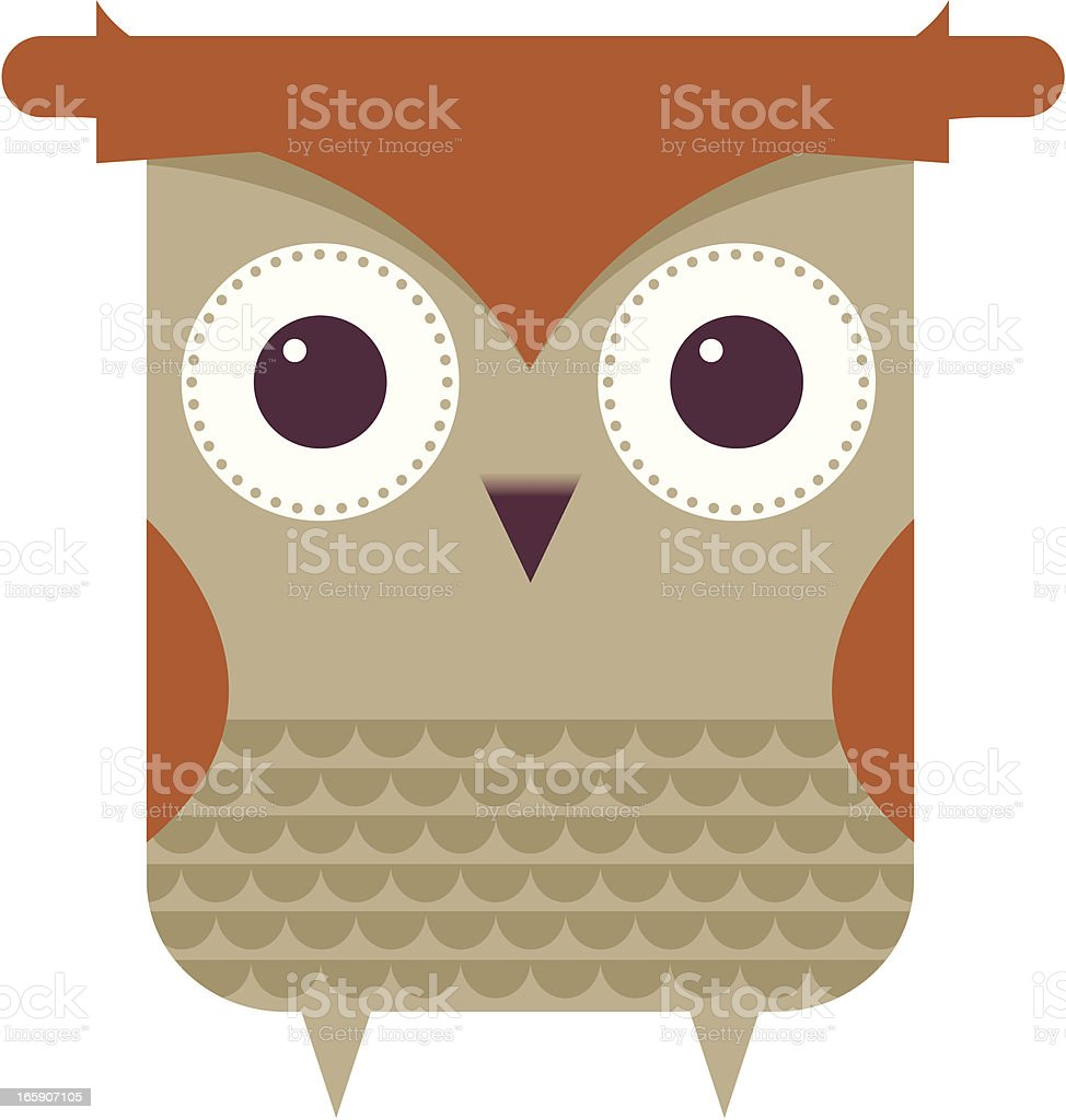 Cute owl vector art illustration