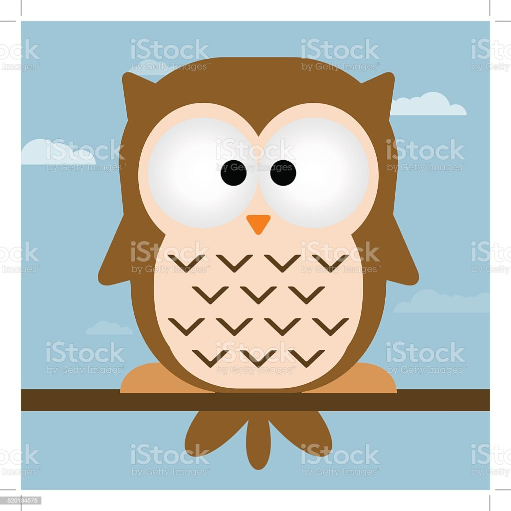 Cute owl vector illustration. royalty-free stock vector art