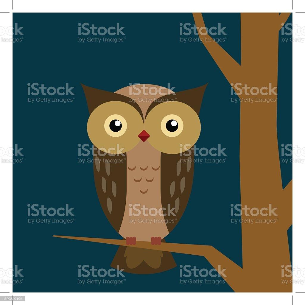 Cute owl vector illustration. royalty-free stock vector art