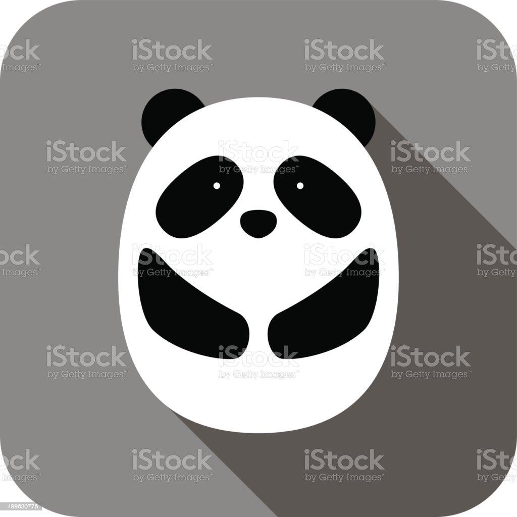 cute panda face and body flat design, vector vector art illustration