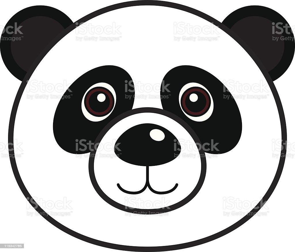 Cute Panda Vector royalty-free stock vector art