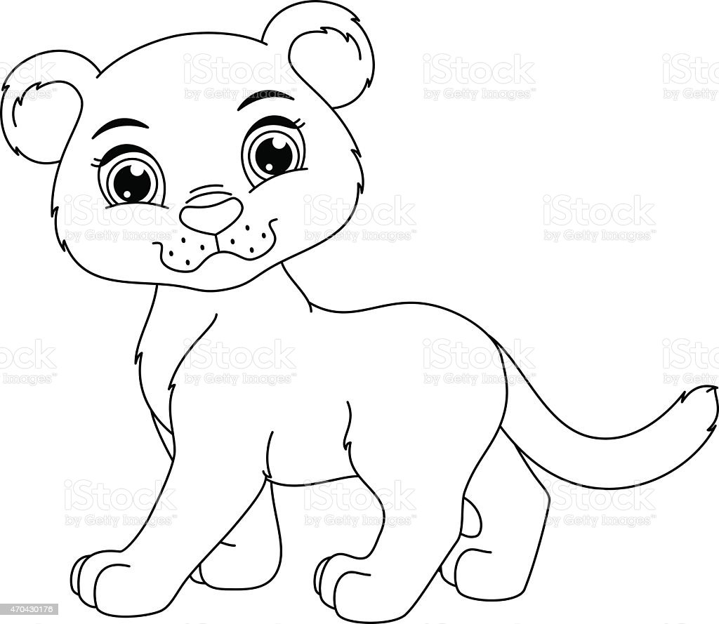 Mountain Lion Cubs Clip Art Vector Images Illustrations iStock