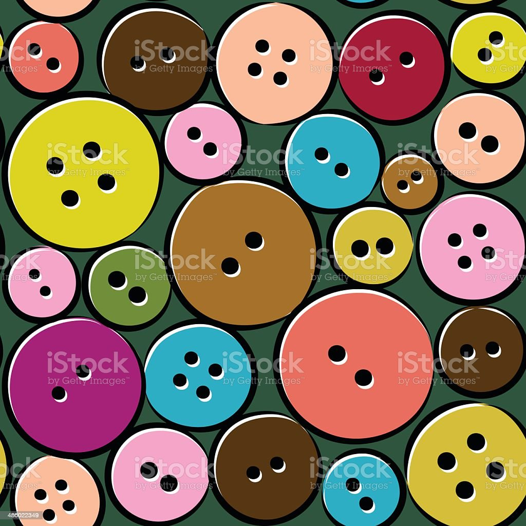 Cute pattern with abstract buttons royalty-free stock vector art