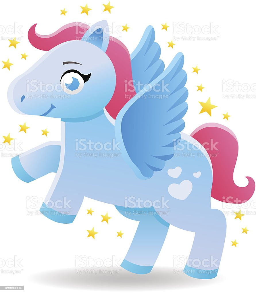 Cute Pegasus royalty-free stock vector art