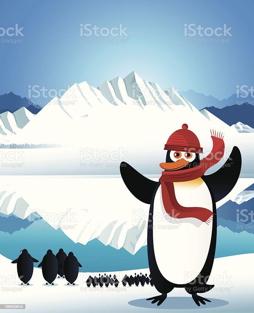 Cute penguin royalty-free stock vector art