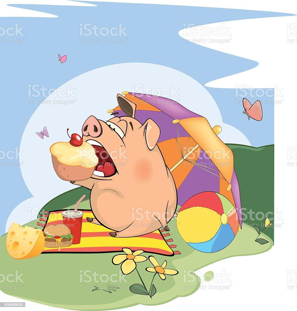 cute pig farm animal cartoon stock vector art 509908530 istock