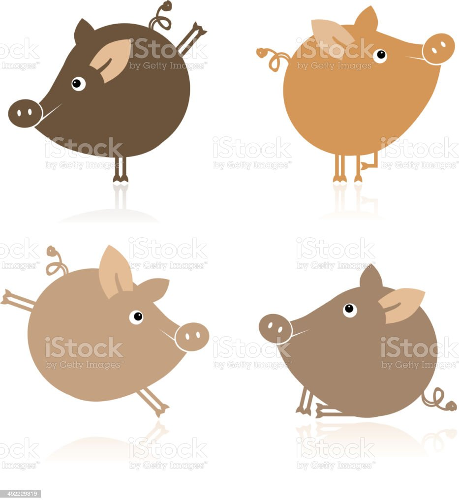 Cute piggy for your design royalty-free stock vector art