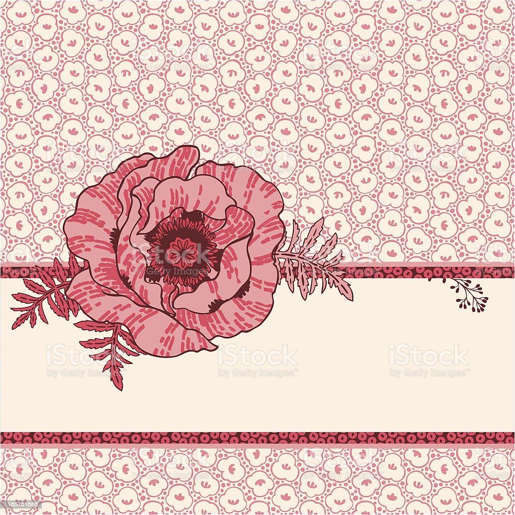 Cute Poppy royalty-free stock vector art