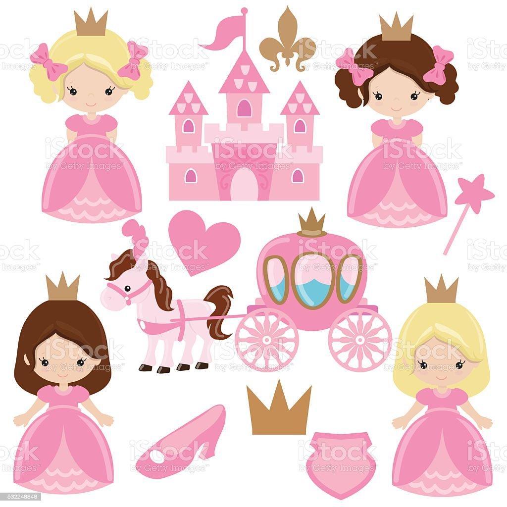 Cute princess vector illustration vector art illustration