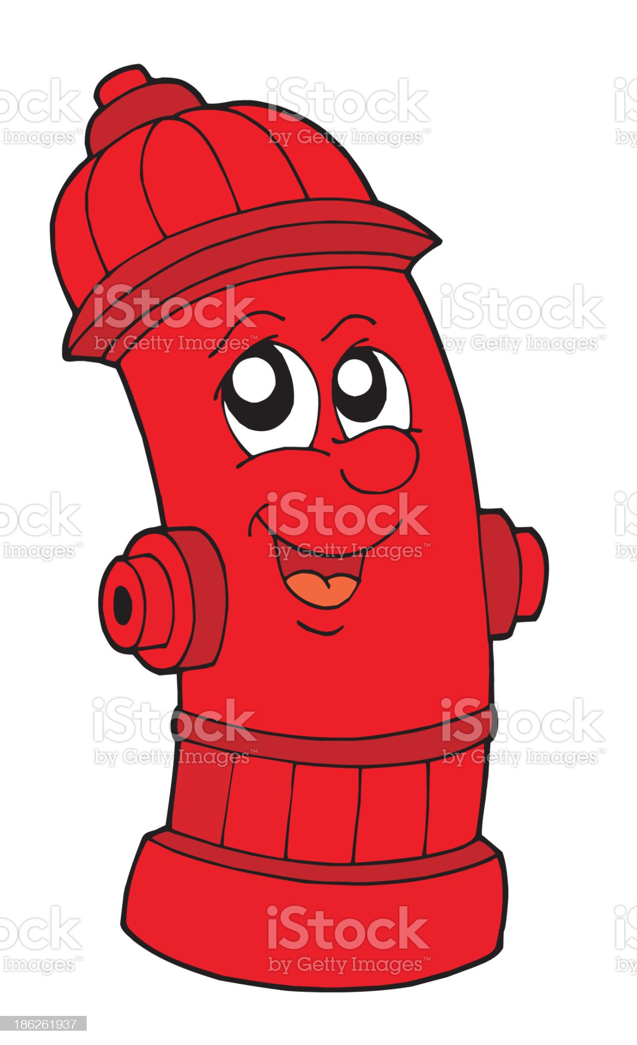 Cute red fire hydrant royalty-free stock vector art