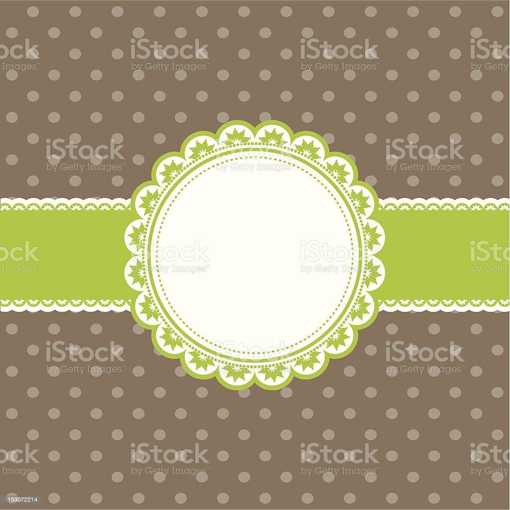 Cute Retro Background royalty-free stock vector art
