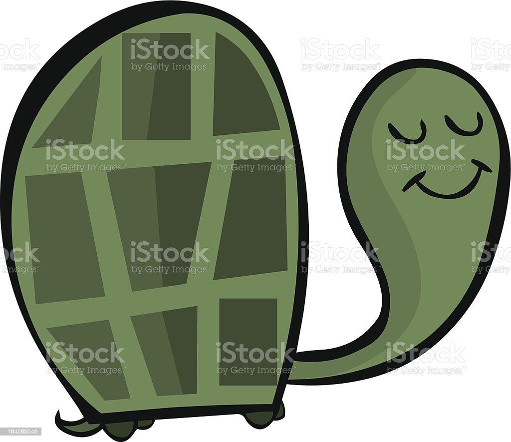 Cute Retro Turtle vector art illustration