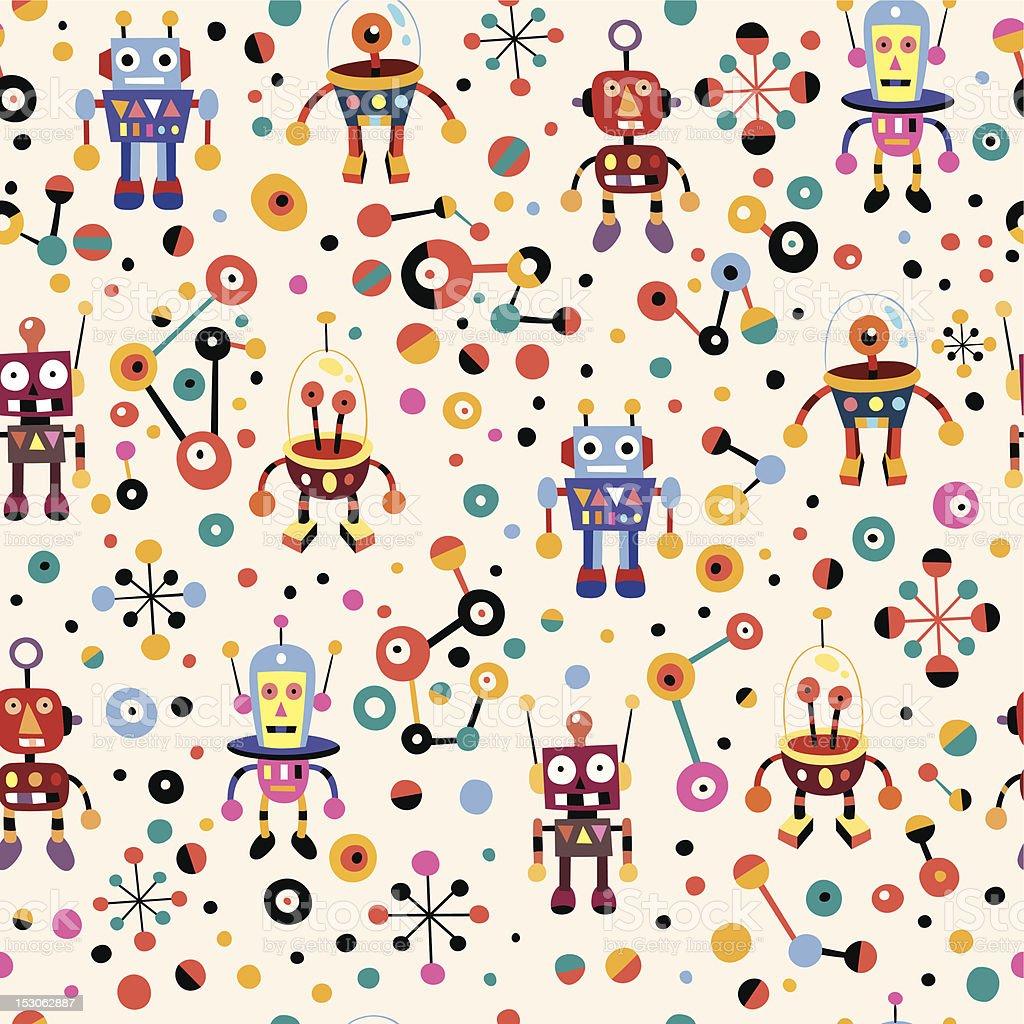 cute robots pattern royalty-free stock vector art