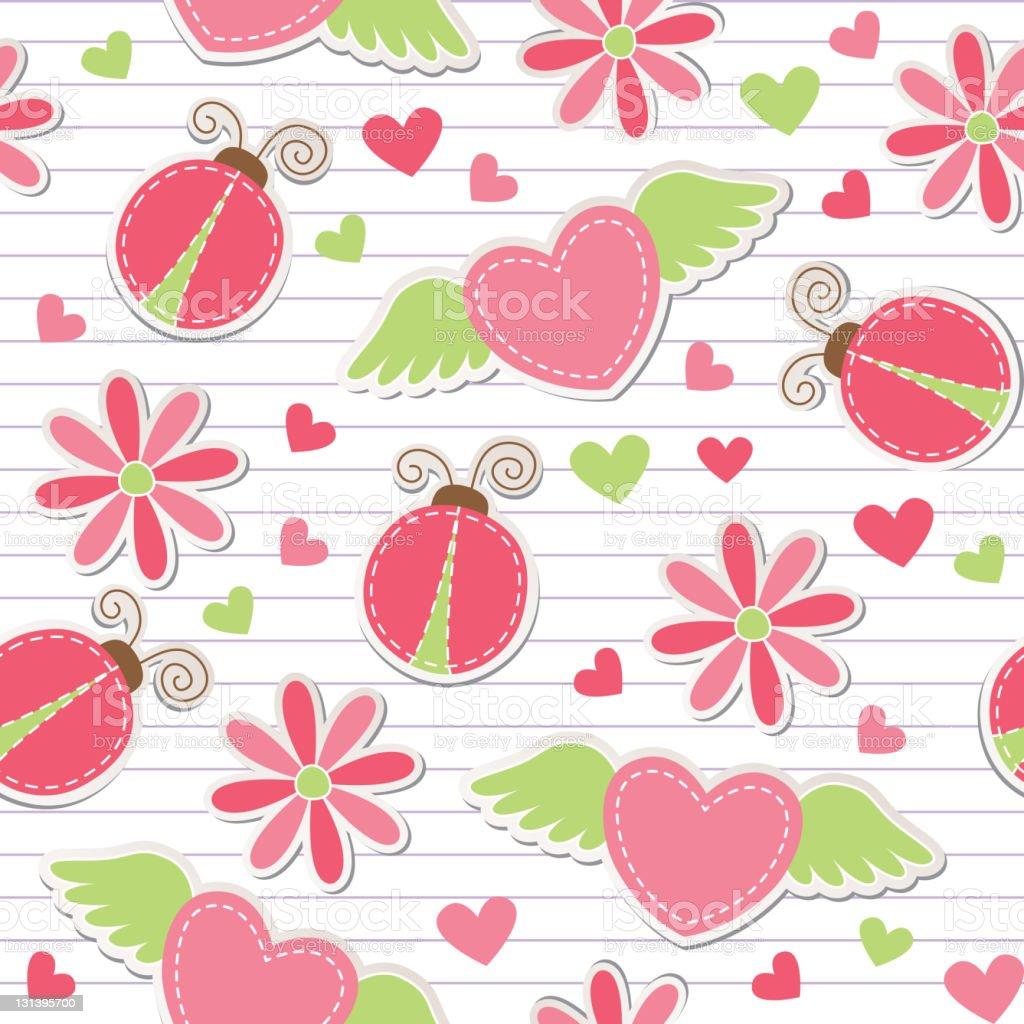 cute romantic seamless pattern royalty-free stock vector art