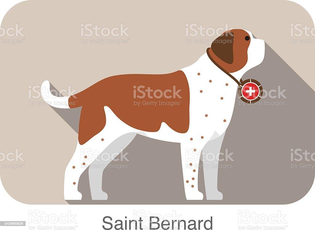 cute Saint Bernard dog, vector illustration vector art illustration