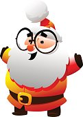 Cute Santa Claus with glasses Cartoon character