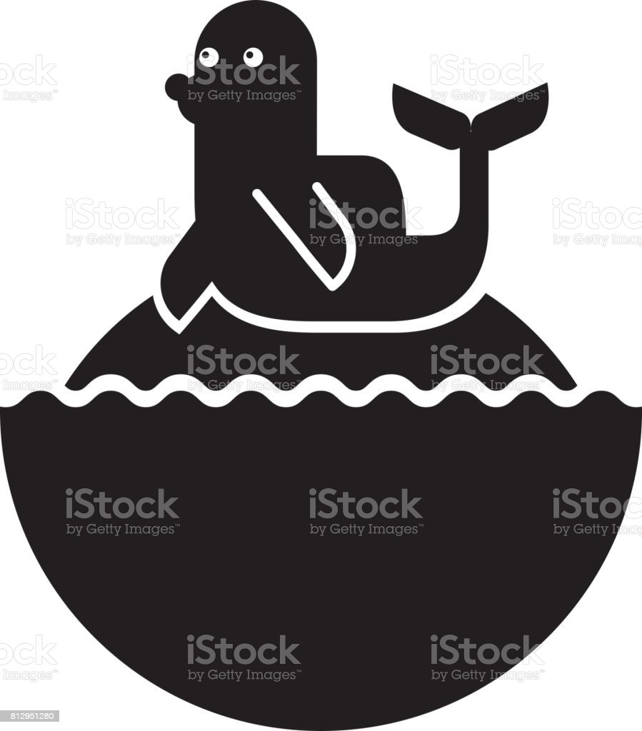 cute seal isolated icon vector art illustration