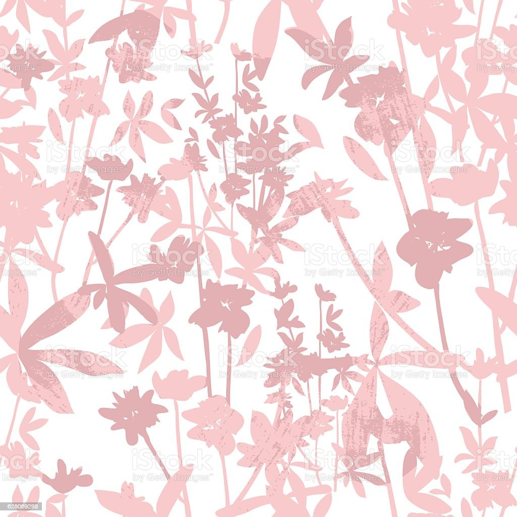 Cute seamless floral pattern. Background  with flowers vector art illustration