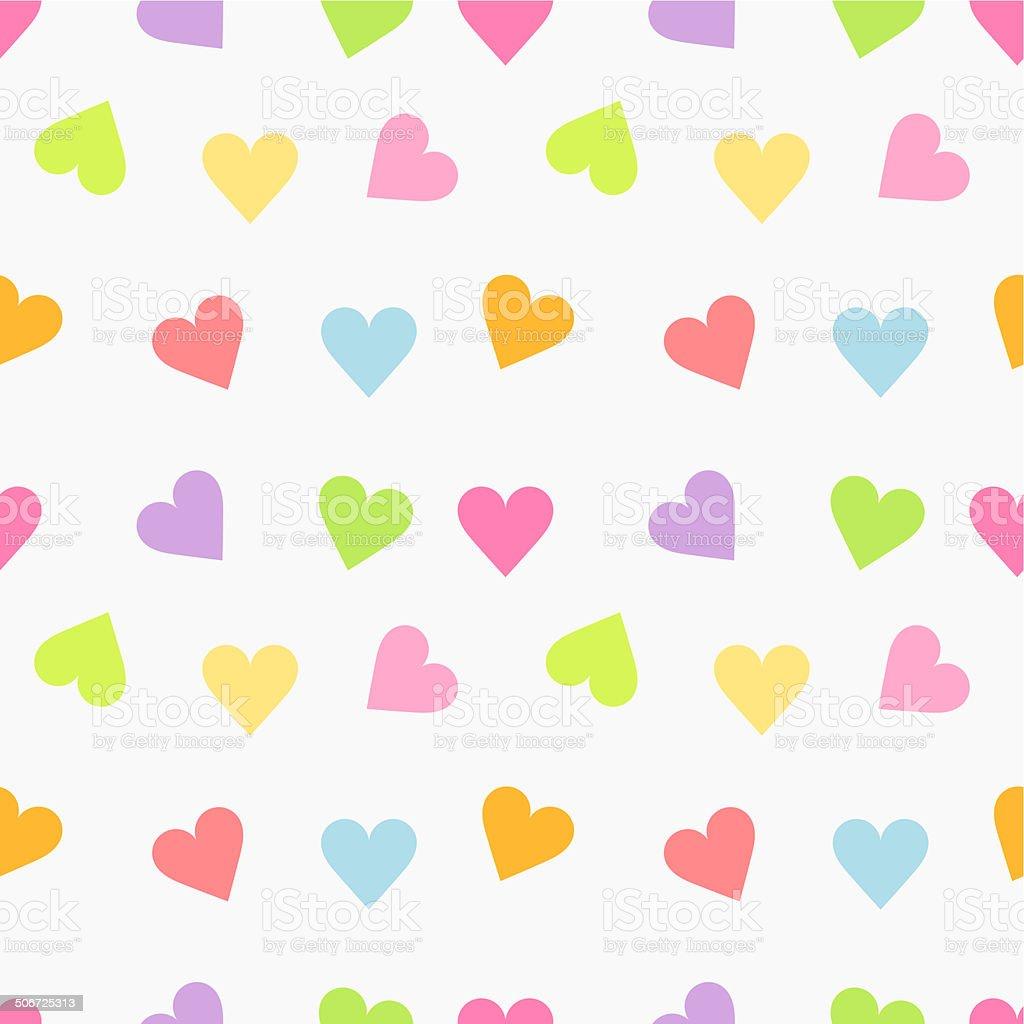 Cute seamless hearts vector art illustration