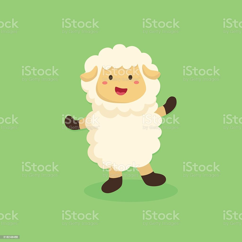 Cute Sheep Cartoon vector art illustration