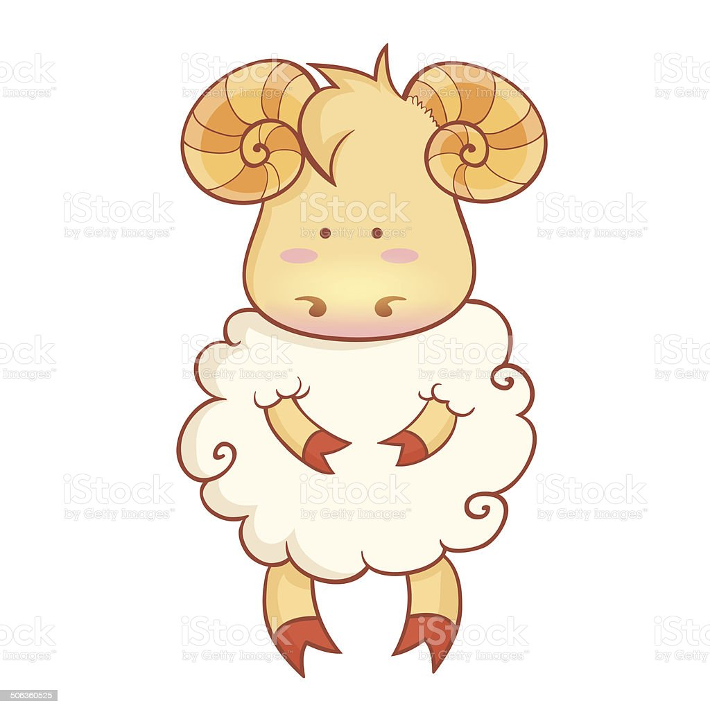 Cute sheep character of chinese new year symbol stock vector art cute sheep character of chinese new year symbol royalty free stock vector art buycottarizona Gallery
