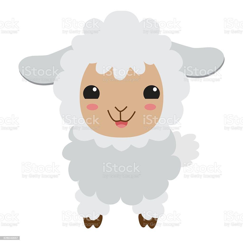 Cute sheep vector illustration vector art illustration