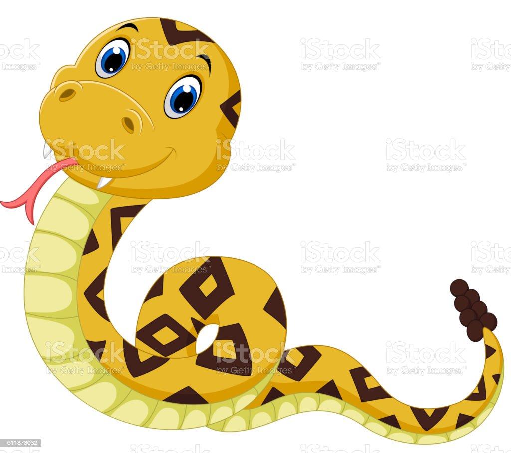 cute snake vector art illustration