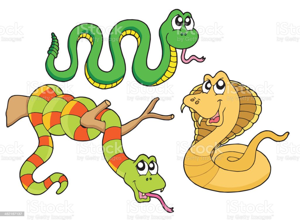 Cute snakes collection royalty-free stock vector art