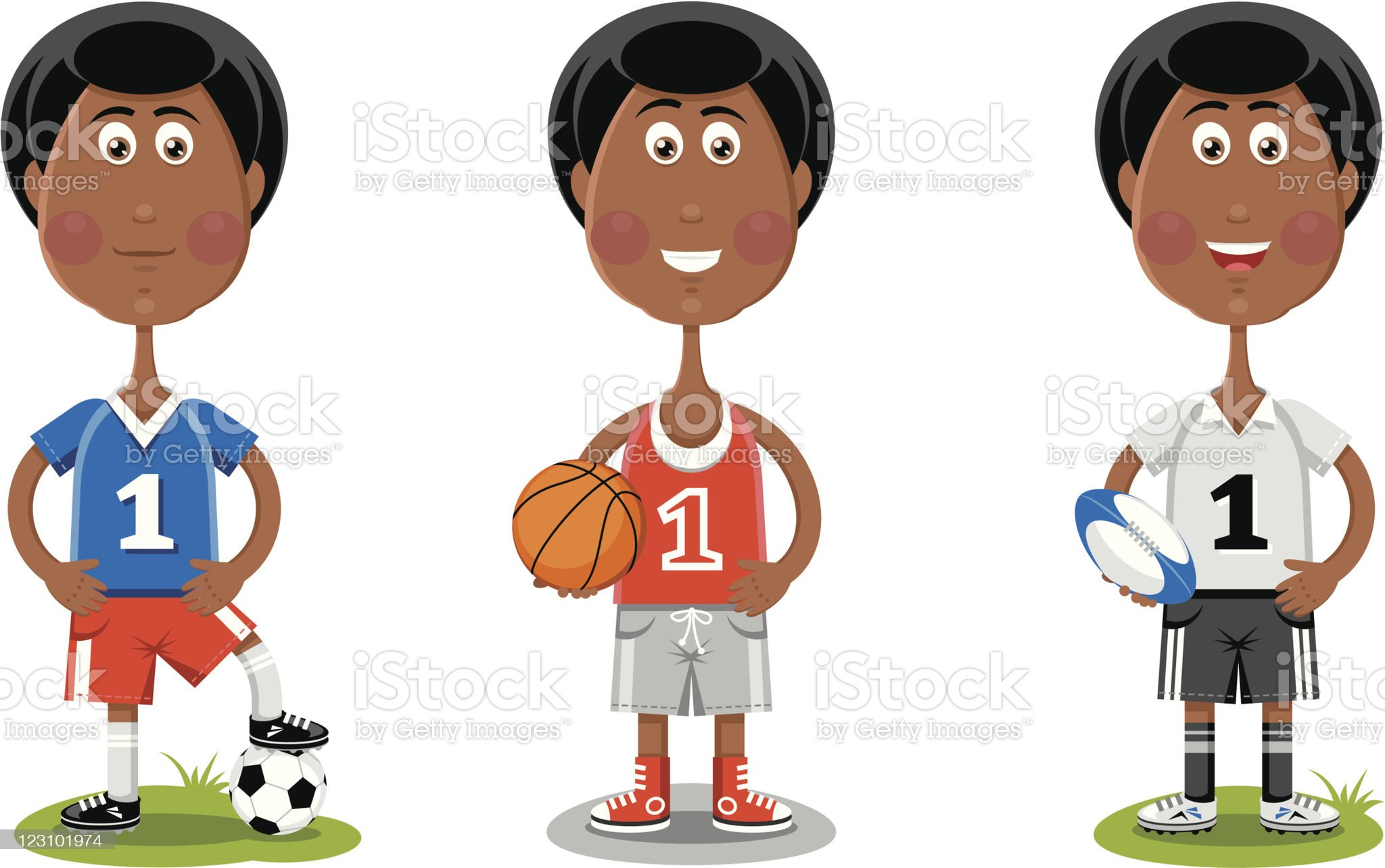 Cute sportsmen royalty-free stock vector art