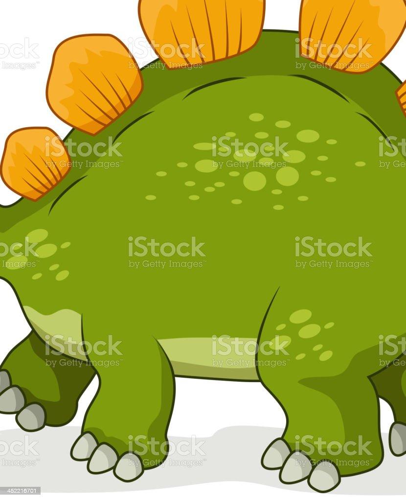 Cute stegosaurus cartoon royalty-free stock vector art