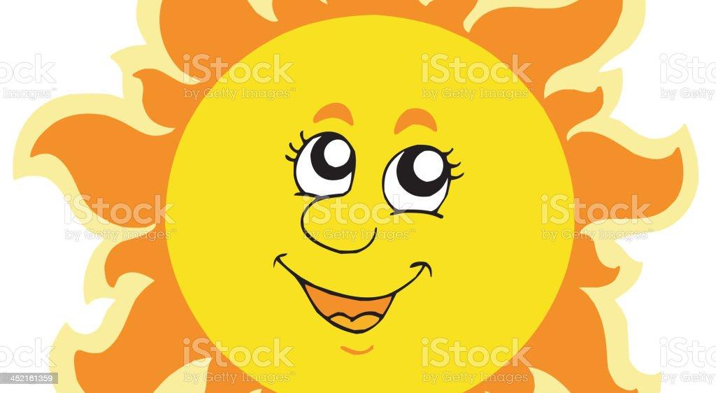 Cute summer Sun royalty-free stock vector art