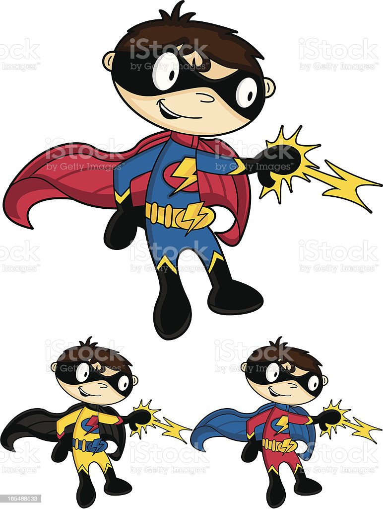 Cute Superhero Character royalty-free stock vector art