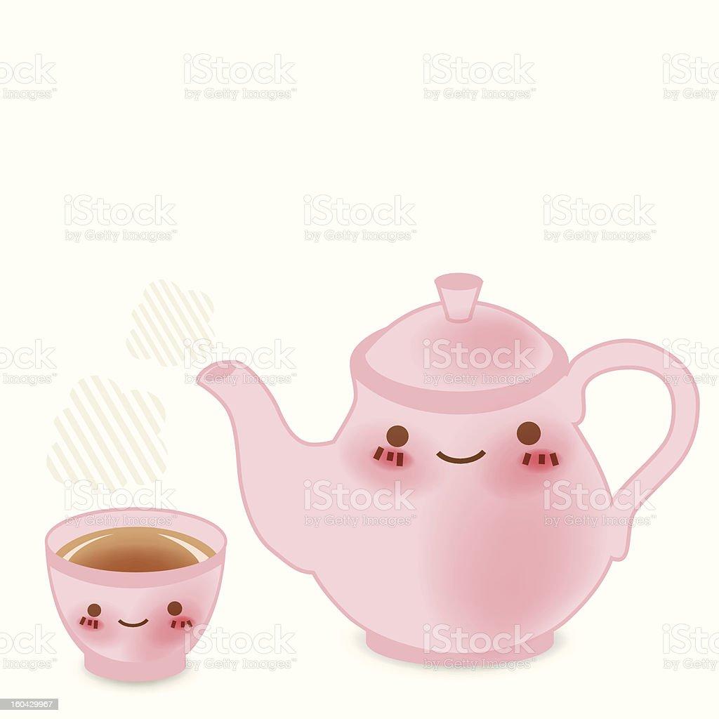 Cute Teapot royalty-free stock vector art