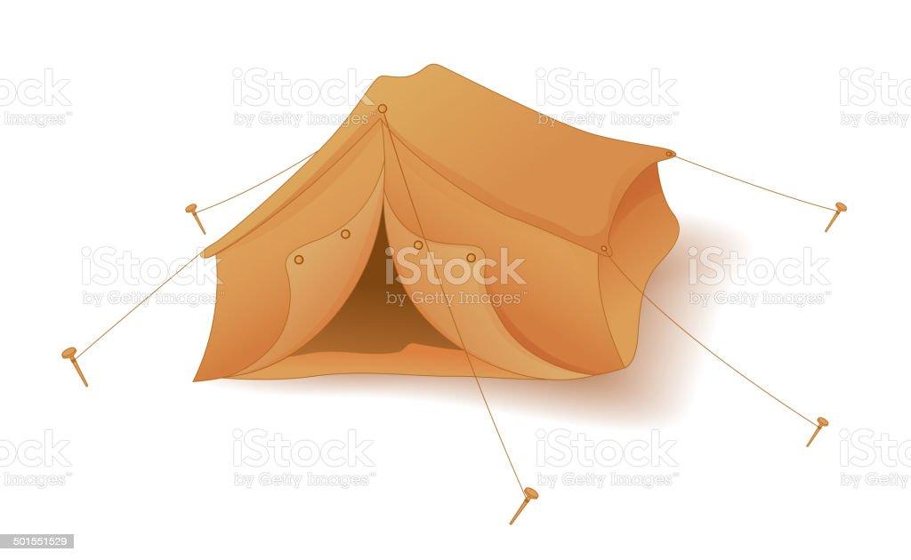 Cute Tent Camp vector art illustration
