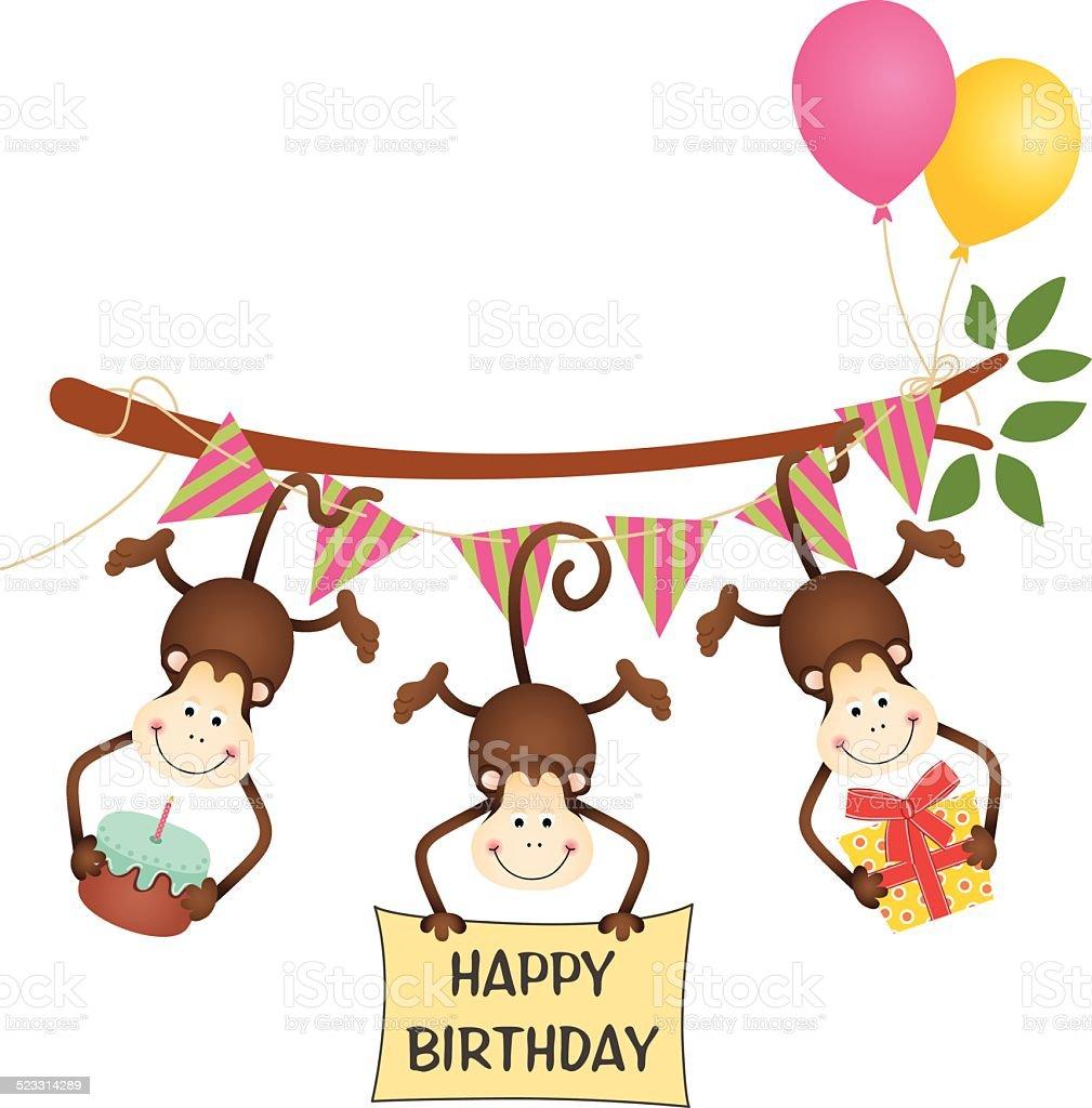 Поздравления с днем рождения от обезьяны