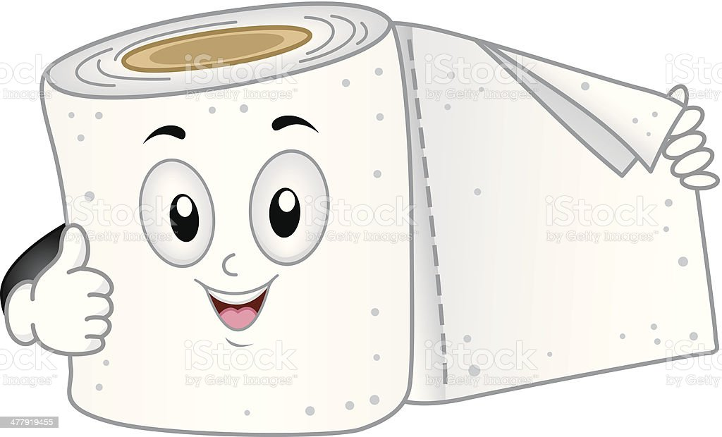 Cute Toilet Paper vector art illustration