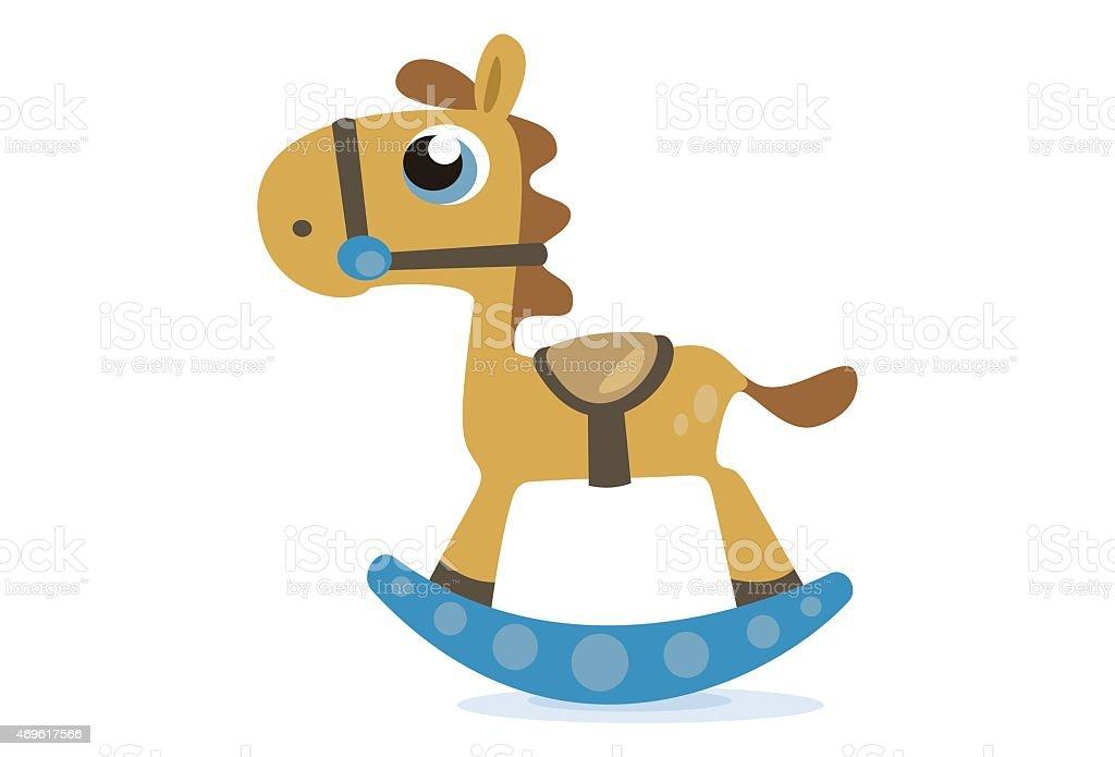 Cute Toy horse vector art illustration