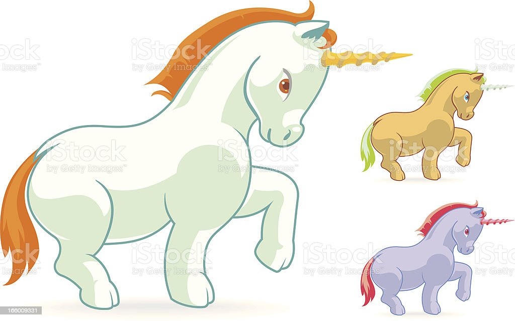 Cute Unicorn royalty-free stock vector art