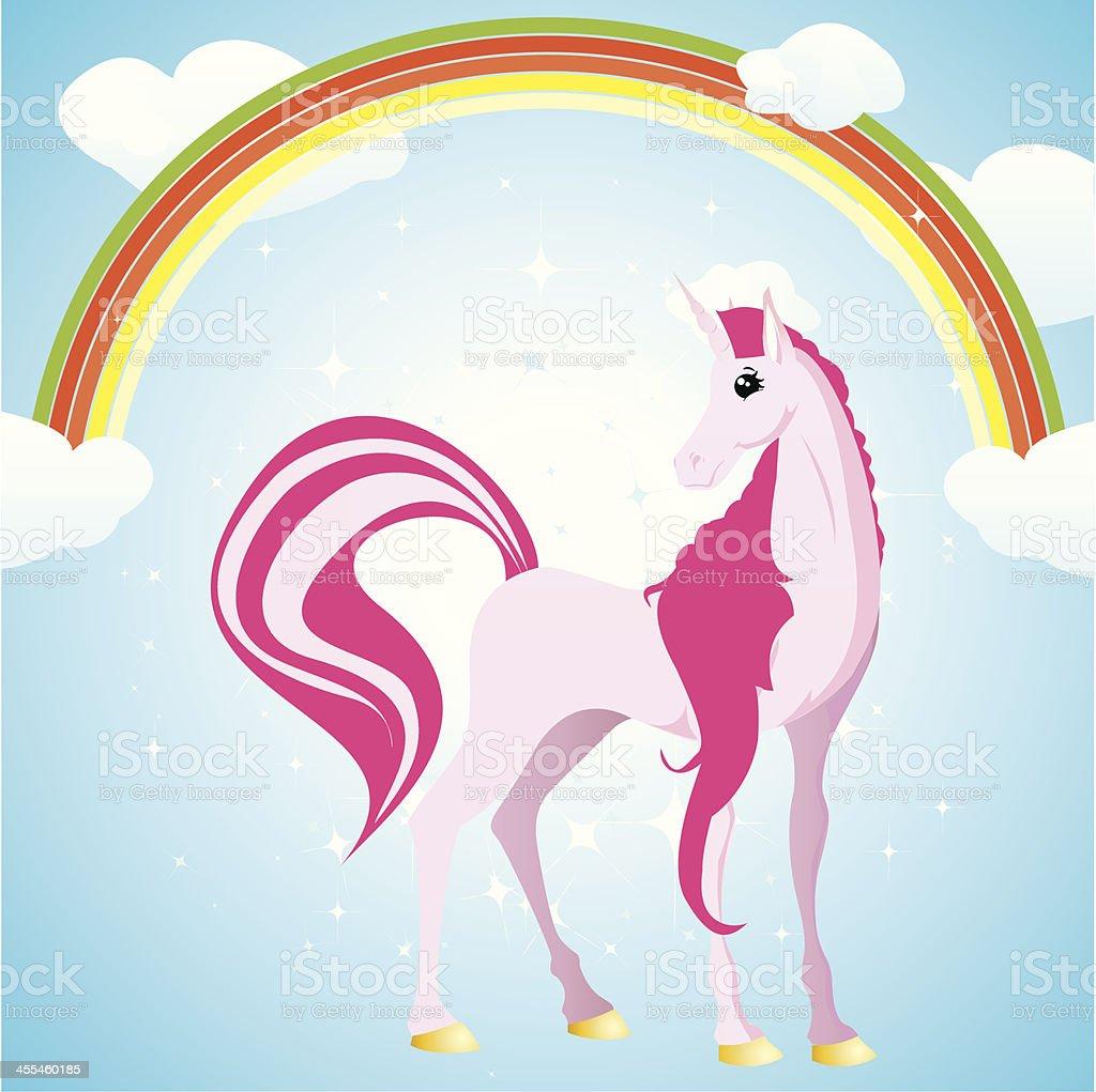 Cute unicorn royalty-free stock vector art